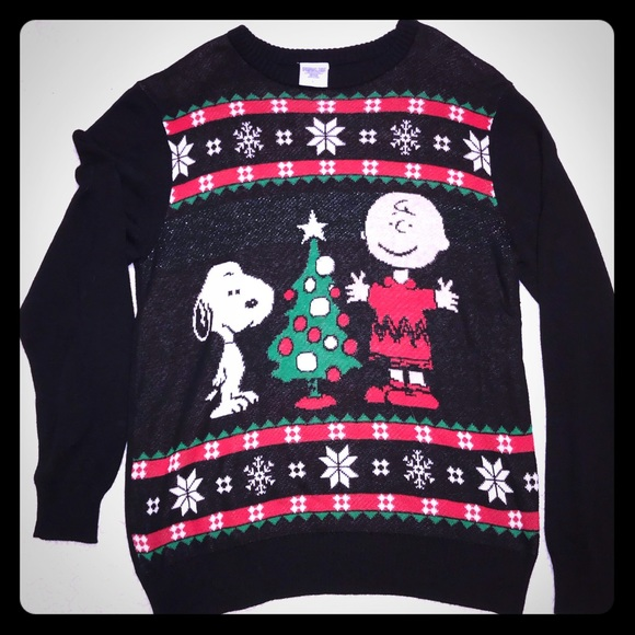 Peanuts Sweaters Snoopy Charlie Brown Ugly Christmas Sweater